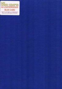 A4 Blue Embossed Leather-look 250gsm Card x 5 Sheets - UKCC0276